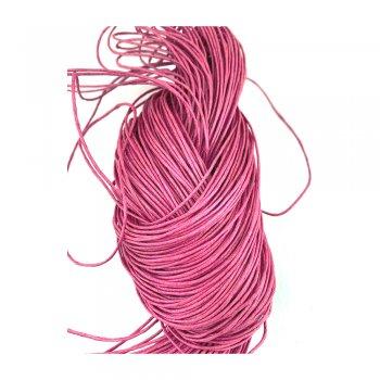 Гладкий вощеный шнур 1.0 мм, Малиновый 15