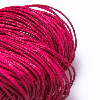Гладкий вощеный шнур 1.0 мм, Розовый 16