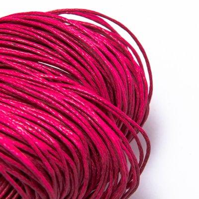 Вощеный хлопковый шнур 1.0 мм Розовый 16