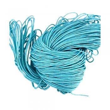 Гладкий вощеный шнур 1.0 мм, Голубой 22