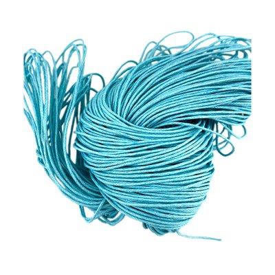 Вощеный хлопковый шнур 1.0 мм Голубой 22