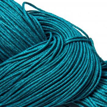Вощеный хлопковый шнур 1.0 мм Синий 23
