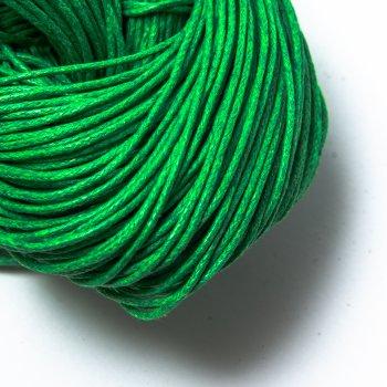 Вощеный хлопковый шнур 1.0 мм Зеленый 25