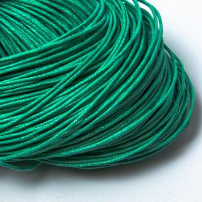 Вощеный хлопковый шнур 1.0 мм Зеленый 27