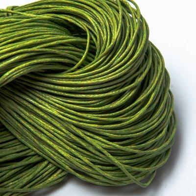 Вощеный хлопковый шнур 1.0 мм Зелены 28
