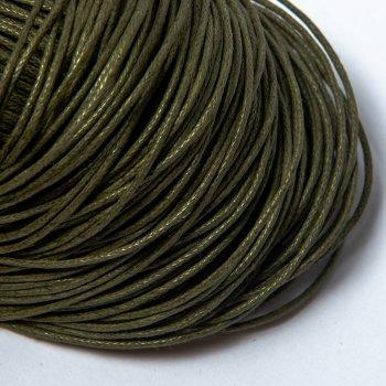 Гладкий вощеный шнур 1.0 мм, Темно-Зеленый 29