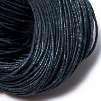Вощеный хлопковый шнур 1.0 мм Серо-синий 32