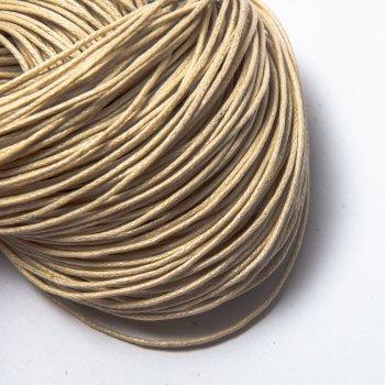 Вощеный хлопковый шнур 1.0 мм Крем 33