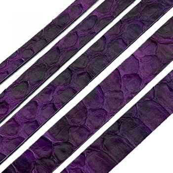 Полоса из кожи питона 10х2 мм Фиолетовый 25