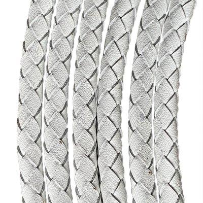 Кожаный плетеный шнур Ultra Sky 5.0 мм Белый 10