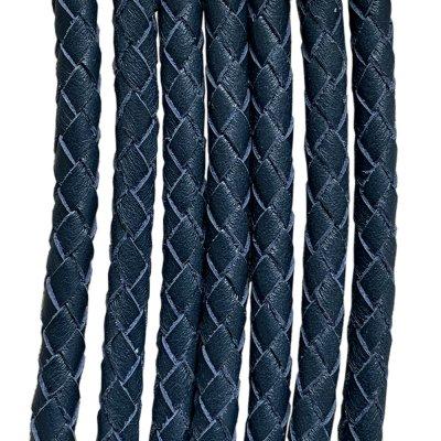 Кожаный плетеный шнур Ultra Sky 5.0 мм Синий 07