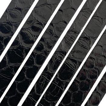 Полоса из кожи питона 8х2 мм (25 см) Черный 01