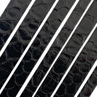 Полоса из кожи питона 6х2 мм (25 см) Черный  01