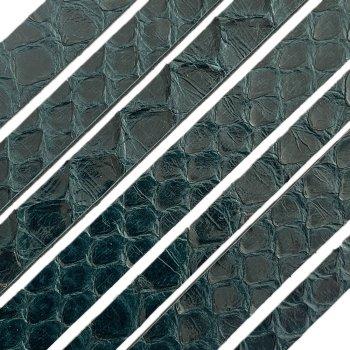 Полоса из кожи питона 10х2 мм (25 см) Зеленый 20