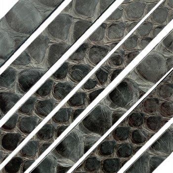 Полоса из кожи питона 10х2 мм (25 см) Серый 04