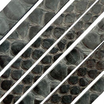 Полоса из кожи питона 8х2 мм (25 см) Серый 04