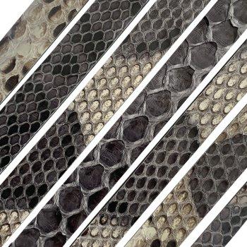 Полоса из кожи питона 10х2 мм (25 см) Серый 03