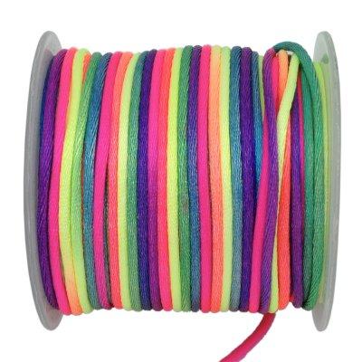 Шелковый гладкий шнур 1.5 мм Разноцветный 33