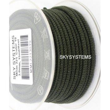 Шелковый шнур Милан 221   3.0 мм Цвет: Зеленый 19