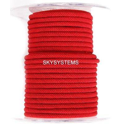 Шелковый шнур Милан 221   4.0 мм, Цвет: Красный 30