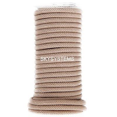 Шелковый шнур Милан 221 | 4.0 мм, Цвет: Бежевый 38