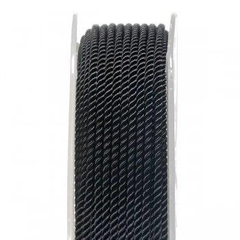 Шелковый шнур Милан 226 | 2.0 мм, Цвет: Черный 06