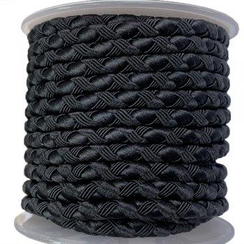 Шелковый шнур Милан 222 | 4.0 мм, Цвет: Черный