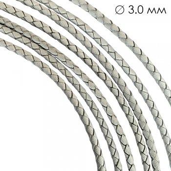 Кожаный плетеный шнур Ultra Sky 3.0 мм Белая 10