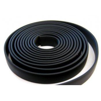 Плоский каучуковый шнур 7х2 мм Черный 36