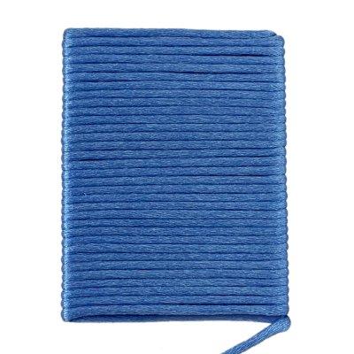 Шелковый гладкий шнур 2.0 мм Голубой 319