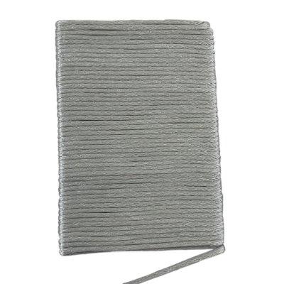 Шелковый гладкий шнур 2.0 мм Серебро 131