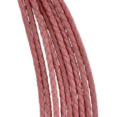 Кожаный плетеный шнур Ultra Sky 3.0 мм Розовый 17