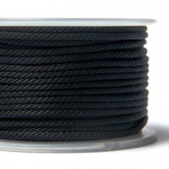 Шелковый шнур Милан 214   2.0 мм, Цвет: Черный 01