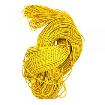 Гладкий вощеный шнур 1.0 мм, Темно- Желтый 11