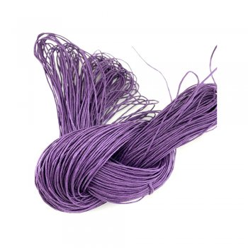 Гладкий вощеный шнур 1.0 мм, Фиолетовый 20