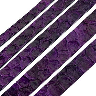 Полоса из кожи питона 10х2 мм (25 см) Фиолетовый 25