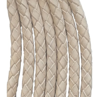 Кожаный плетеный шнур 6.0 мм Растительное дубление  Ultra Sky