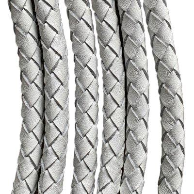 Кожаный плетеный шнур Ultra Sky 4.0/6 мм Белый 10