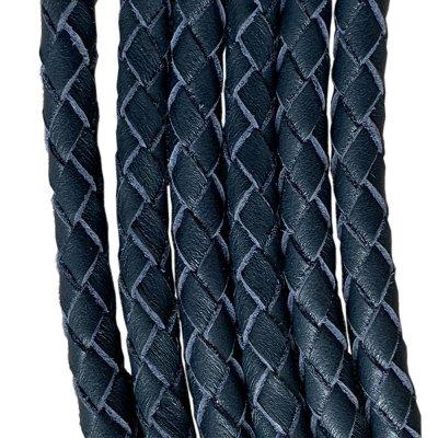 Кожаный плетеный шнур Ultra Sky 6.0 мм Синий 07