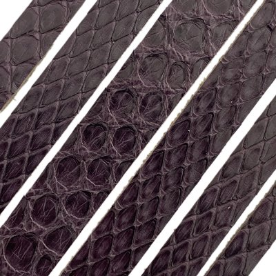 Полоса из кожи питона 14х2 мм (25 см) Бордо 15