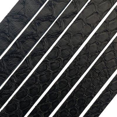 Полоса из кожи питона 6х2 мм (25 см) Черный Мат 01