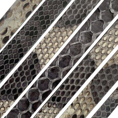 Полоса из кожи питона 8х2 мм (25 см) Серый 03