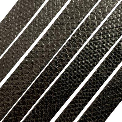 Полоса из кожи карунга 10х2 мм (25 см) Черный  01