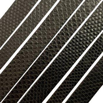 Полоса из кожи карунга 8х2 мм (50 см) Черный 01